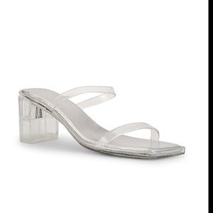JEFFREY CAMPBELL Jamm 3 Mule in Clear size 8